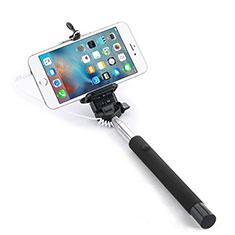 Selfie Stick Stange Verdrahtet Teleskop Universal Schwarz