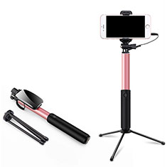 Selfie Stick Stange Verdrahtet Teleskop Universal T35 für Sony Xperia L3 Rosa