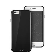 Silikon Hülle Gummi Schutzhülle für Apple iPhone 6 Schwarz