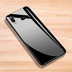 Silikon Hülle Gummi Schutzhülle Spiegel für Samsung Galaxy A6s Schwarz