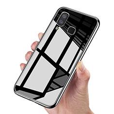 Silikon Hülle Gummi Schutzhülle Spiegel für Samsung Galaxy A9 Star SM-G8850 Schwarz