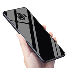 Silikon Hülle Gummi Schutzhülle Spiegel für Samsung Galaxy Grand Prime Pro (2018) Schwarz