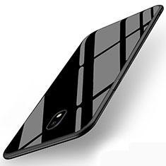 Silikon Hülle Gummi Schutzhülle Spiegel für Samsung Galaxy J5 (2017) SM-J750F Schwarz