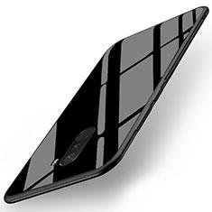 Silikon Hülle Gummi Schutzhülle Spiegel für Xiaomi Pocophone F1 Schwarz