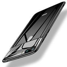 Silikon Hülle Gummi Schutzhülle Spiegel für Xiaomi Redmi 6 Schwarz