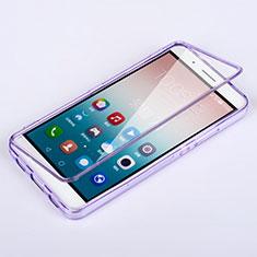 Silikon Hülle Handyhülle Flip Schutzhülle Durchsichtig Transparent für Huawei Honor 7i shot X Violett
