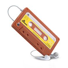 Silikon Hülle Handyhülle Gummi Schutzhülle Cassette für Apple iPhone 4 Braun