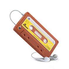 Silikon Hülle Handyhülle Gummi Schutzhülle Cassette für Apple iPhone 4S Braun