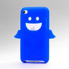 Silikon Hülle Handyhülle Gummi Schutzhülle Engel für Apple iPod Touch 4 Blau