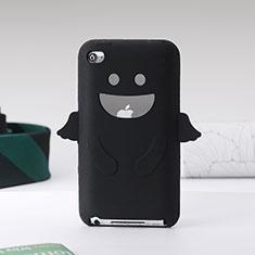 Silikon Hülle Handyhülle Gummi Schutzhülle Engel für Apple iPod Touch 4 Schwarz
