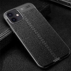 Silikon Hülle Handyhülle Gummi Schutzhülle Flexible Leder Tasche für Apple iPhone 12 Schwarz