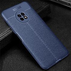 Silikon Hülle Handyhülle Gummi Schutzhülle Flexible Leder Tasche für Huawei Enjoy 20 Plus 5G Blau