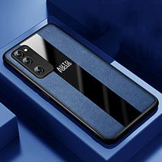 Silikon Hülle Handyhülle Gummi Schutzhülle Flexible Leder Tasche für Huawei Honor 30 Lite 5G Blau