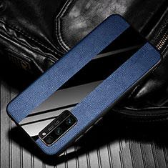 Silikon Hülle Handyhülle Gummi Schutzhülle Flexible Leder Tasche für Huawei Honor 30 Pro+ Plus Blau