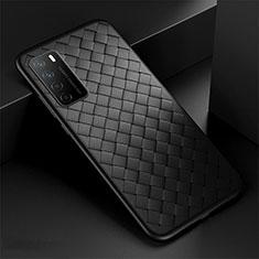 Silikon Hülle Handyhülle Gummi Schutzhülle Flexible Leder Tasche für Huawei Honor Play4 5G Schwarz