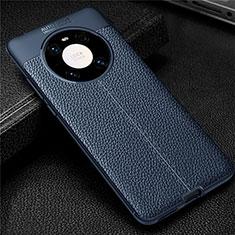 Silikon Hülle Handyhülle Gummi Schutzhülle Flexible Leder Tasche für Huawei Mate 40 Pro Blau