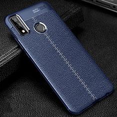 Silikon Hülle Handyhülle Gummi Schutzhülle Flexible Leder Tasche für Huawei Y8s Blau