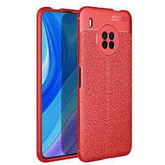 Silikon Hülle Handyhülle Gummi Schutzhülle Flexible Leder Tasche für Huawei Y9a Rot