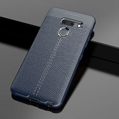Silikon Hülle Handyhülle Gummi Schutzhülle Flexible Leder Tasche für LG G8 ThinQ Blau