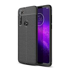 Silikon Hülle Handyhülle Gummi Schutzhülle Flexible Leder Tasche für Motorola Moto G8 Power Schwarz