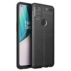 Silikon Hülle Handyhülle Gummi Schutzhülle Flexible Leder Tasche für OnePlus Nord N10 5G Schwarz