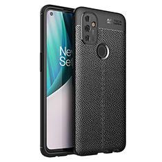 Silikon Hülle Handyhülle Gummi Schutzhülle Flexible Leder Tasche für OnePlus Nord N100 Schwarz