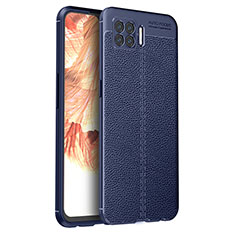 Silikon Hülle Handyhülle Gummi Schutzhülle Flexible Leder Tasche für Oppo A73 (2020) Blau
