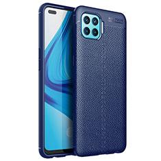 Silikon Hülle Handyhülle Gummi Schutzhülle Flexible Leder Tasche für Oppo A93 Blau