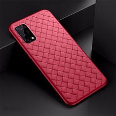 Silikon Hülle Handyhülle Gummi Schutzhülle Flexible Leder Tasche für Oppo K7x 5G Rot