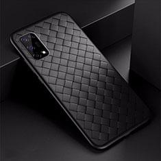 Silikon Hülle Handyhülle Gummi Schutzhülle Flexible Leder Tasche für Oppo K7x 5G Schwarz