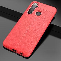 Silikon Hülle Handyhülle Gummi Schutzhülle Flexible Leder Tasche für Realme 5i Rot