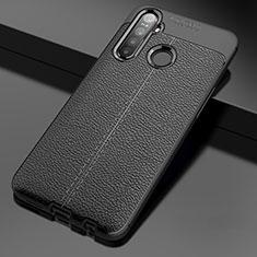 Silikon Hülle Handyhülle Gummi Schutzhülle Flexible Leder Tasche für Realme 5i Schwarz