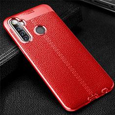 Silikon Hülle Handyhülle Gummi Schutzhülle Flexible Leder Tasche für Realme 6i Rot