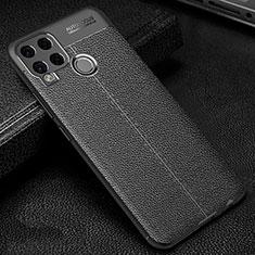 Silikon Hülle Handyhülle Gummi Schutzhülle Flexible Leder Tasche für Realme C15 Schwarz