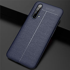 Silikon Hülle Handyhülle Gummi Schutzhülle Flexible Leder Tasche für Realme X3 Blau