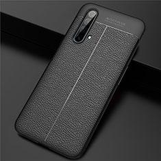 Silikon Hülle Handyhülle Gummi Schutzhülle Flexible Leder Tasche für Realme X3 Schwarz