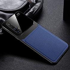 Silikon Hülle Handyhülle Gummi Schutzhülle Flexible Leder Tasche für Realme X50 5G Blau