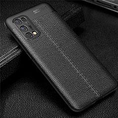 Silikon Hülle Handyhülle Gummi Schutzhülle Flexible Leder Tasche für Realme X7 5G Schwarz