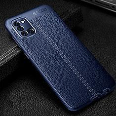 Silikon Hülle Handyhülle Gummi Schutzhülle Flexible Leder Tasche für Samsung Galaxy A31 Blau