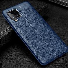 Silikon Hülle Handyhülle Gummi Schutzhülle Flexible Leder Tasche für Samsung Galaxy A42 5G Blau