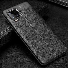 Silikon Hülle Handyhülle Gummi Schutzhülle Flexible Leder Tasche für Samsung Galaxy A42 5G Schwarz