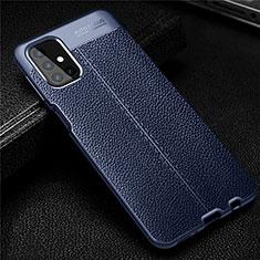 Silikon Hülle Handyhülle Gummi Schutzhülle Flexible Leder Tasche für Samsung Galaxy M31s Blau