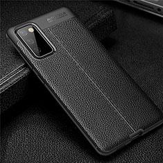 Silikon Hülle Handyhülle Gummi Schutzhülle Flexible Leder Tasche für Samsung Galaxy S20 FE 5G Schwarz