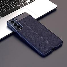 Silikon Hülle Handyhülle Gummi Schutzhülle Flexible Leder Tasche für Samsung Galaxy S21 Plus 5G Königs Blau
