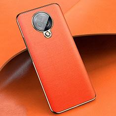 Silikon Hülle Handyhülle Gummi Schutzhülle Flexible Leder Tasche für Vivo Nex 3 5G Orange