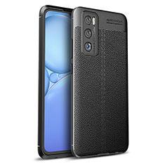 Silikon Hülle Handyhülle Gummi Schutzhülle Flexible Leder Tasche für Vivo Y70 (2020) Schwarz