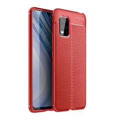 Silikon Hülle Handyhülle Gummi Schutzhülle Flexible Leder Tasche für Xiaomi Mi 10 Lite Rot