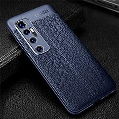 Silikon Hülle Handyhülle Gummi Schutzhülle Flexible Leder Tasche für Xiaomi Mi 10 Ultra Blau