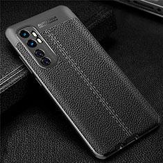 Silikon Hülle Handyhülle Gummi Schutzhülle Flexible Leder Tasche für Xiaomi Mi Note 10 Lite Schwarz