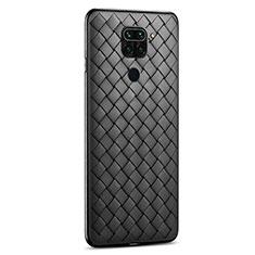 Silikon Hülle Handyhülle Gummi Schutzhülle Flexible Leder Tasche für Xiaomi Redmi 10X 4G Schwarz